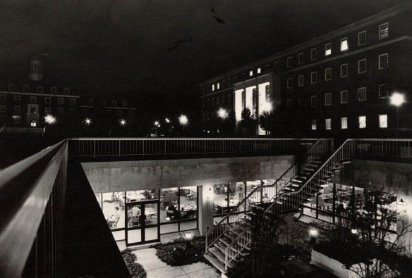 Hornbake Library at night