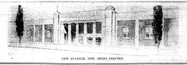 New stadium, now being erected